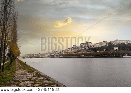 Coimbra Cityscape By Sunset, Portugal