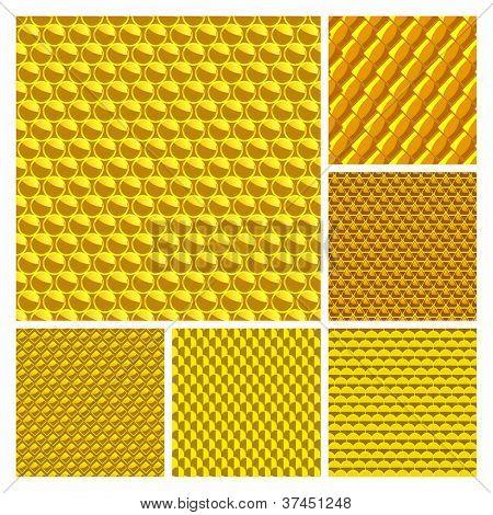 Nahtlose goldenen Hintergrund. Vector-Set.
