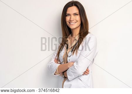 Young, Smart And Professional Doctor Isolated On White.