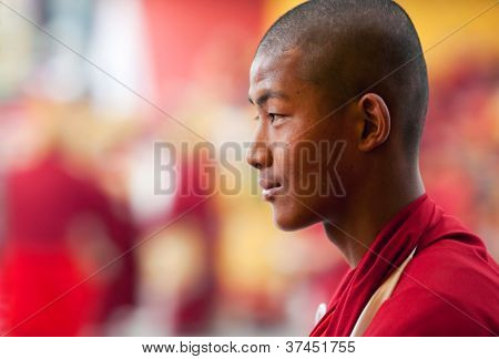 Smile of monk