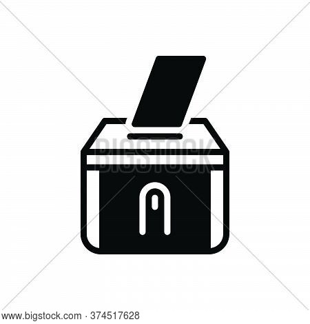 Black Solid Icon For Vote Casting Polling Voting Rejected
