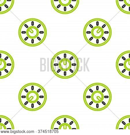 Line Dial Knob Level Technology Settings Icon Isolated Seamless Pattern On White Background. Volume