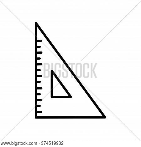 Ruler Line Style Icon Design, Instrument Tool Work Measurement Lenght Object Inch Long And Distance