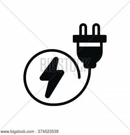 Black Solid Icon For Plug Switch-plug Electric Socket