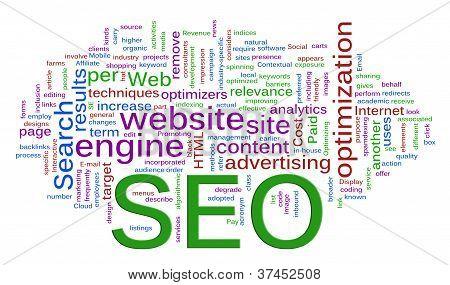 Wordcloud der Seo Suchmaschinen-Optimierung