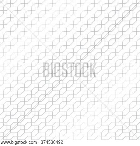 Vector Seamless Pattern. Abstract Halftone Background. Modern Stylish Texture. Repeating Intersectin