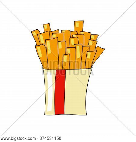 Fast Food Vector. French Fries Illustration For Fastfood Places