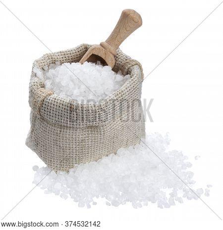 Coarse Sea Salt Isolated On White Background