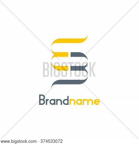 Creative Letter Mm Or Bb Logo Inspiration, Mirror Style And Modern Design Concept, Isolated On White