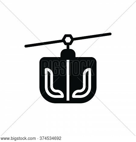 Black Solid Icon For Funicular Ropeway Transportation Capri Climbing Tram