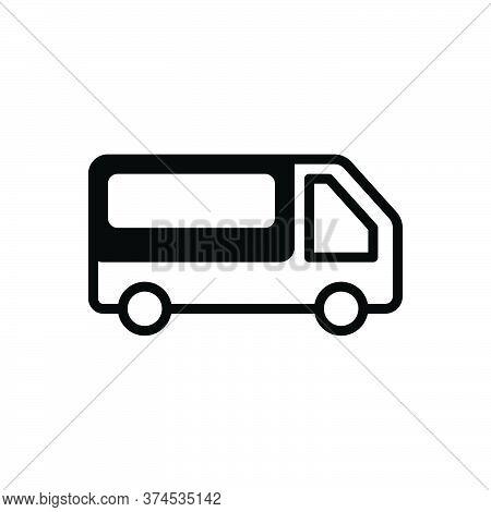 Black Solid Icon For Pickup-van Pickup Van Transport Mini-bus Automobile