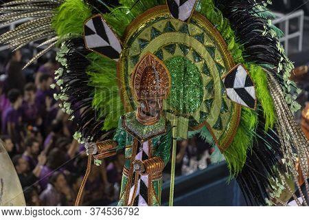 Rio, Brazil - February 21, 2020: Parade Of The Samba School Academicos Do Cubango At The Marques De