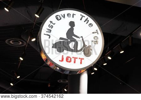 Bordeaux , Aquitaine / France - 06 20 2020 : Jott Logo Sign Scooter Man Of Just Over The Top Store S