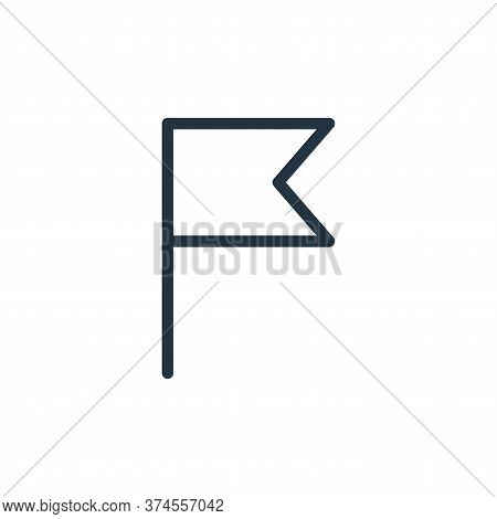 flag icon isolated on white background from navigation collection. flag icon trendy and modern flag