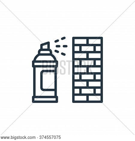 graffiti icon isolated on white background from graphic design collection. graffiti icon trendy and