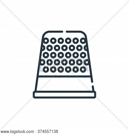 thimble icon isolated on white background from sewing collection. thimble icon trendy and modern thi