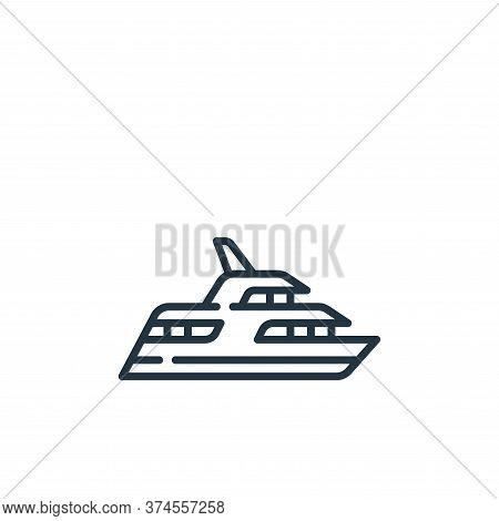 yacht icon isolated on white background from fame collection. yacht icon trendy and modern yacht sym