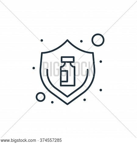 protection icon isolated on white background from coronavirus collection. protection icon trendy and