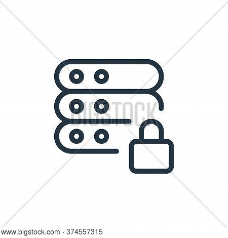 lock icon isolated on white background from work office server collection. lock icon trendy and mode