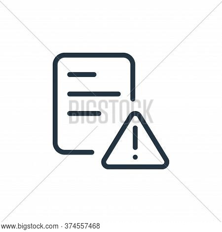 error icon isolated on white background from work office supply collection. error icon trendy and mo