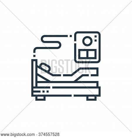 hospital bed icon isolated on white background from smarthome collection. hospital bed icon trendy a
