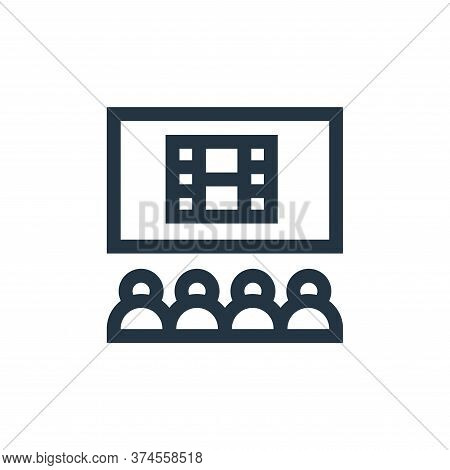 cinema icon isolated on white background from hobbies collection. cinema icon trendy and modern cine