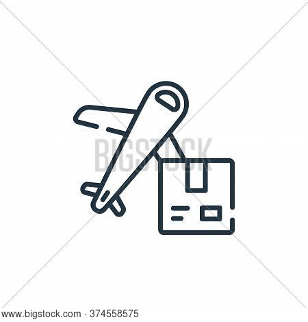 airplane icon isolated on white background from delivery collection. airplane icon trendy and modern