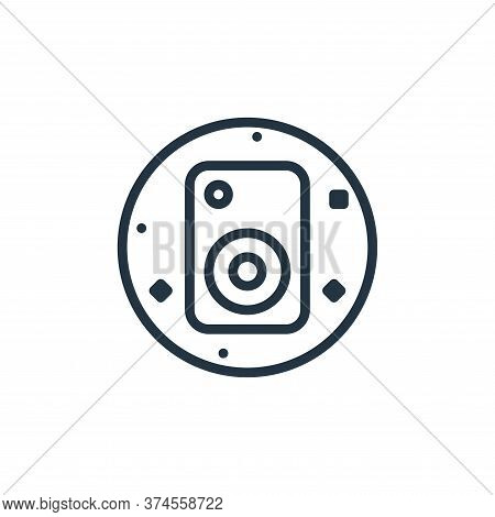speaker icon isolated on white background from music and sound collection. speaker icon trendy and m
