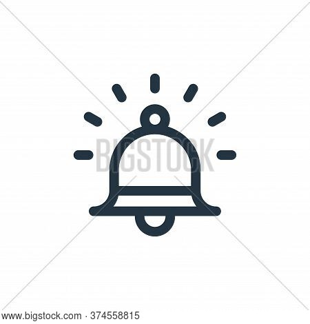 alarm icon isolated on white background from emergencies collection. alarm icon trendy and modern al