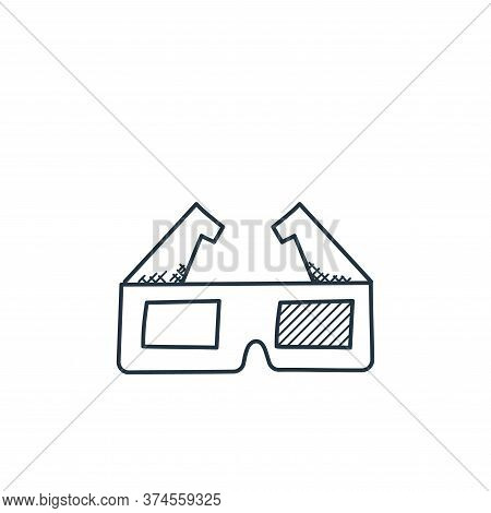 d glasses icon isolated on white background from technology collection. d glasses icon trendy and mo