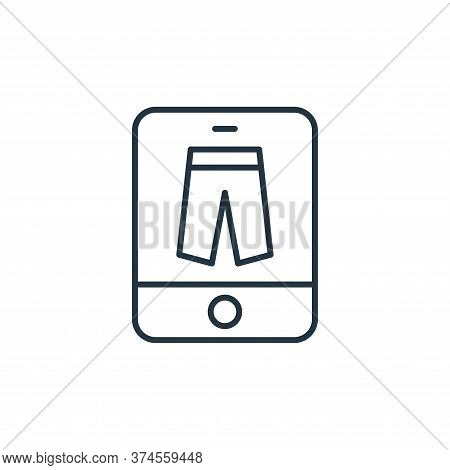 online store icon isolated on white background from ecommerce collection. online store icon trendy a
