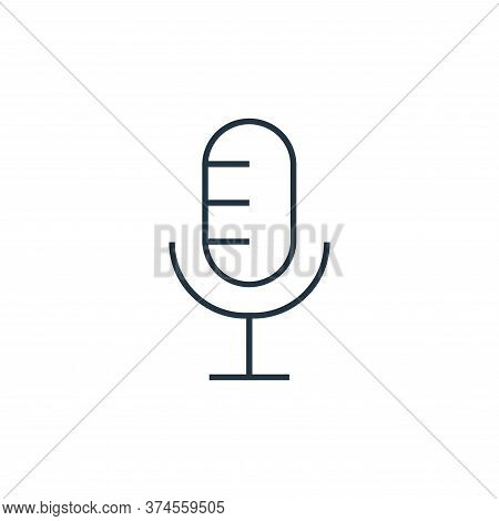 microphone icon isolated on white background from user interface collection. microphone icon trendy