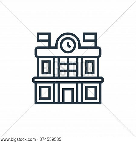 train station icon isolated on white background from railway collection. train station icon trendy a