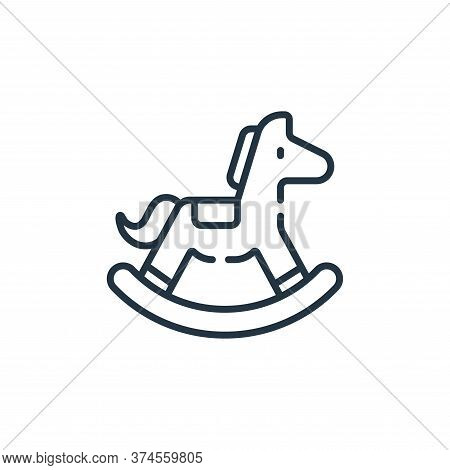 rocking horse icon isolated on white background from children toys collection. rocking horse icon tr