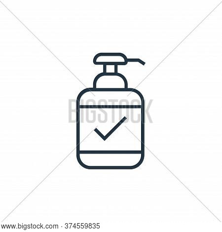 hand sanitizer icon isolated on white background from medical tools collection. hand sanitizer icon
