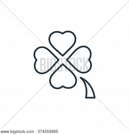 clover icon isolated on white background from casino collection. clover icon trendy and modern clove