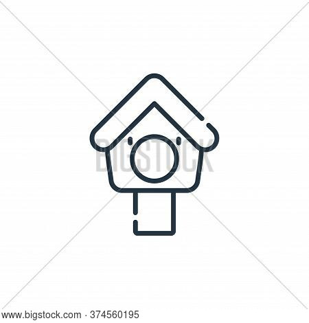 bird house icon isolated on white background from pets collection. bird house icon trendy and modern