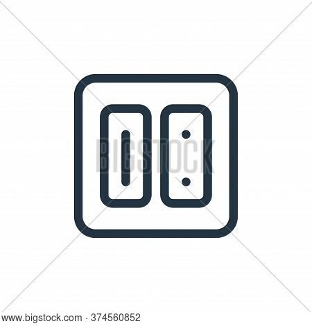 electric outlet icon isolated on white background from electronics collection. electric outlet icon