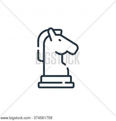 horse icon isolated on white background from free time collection. horse icon trendy and modern hors
