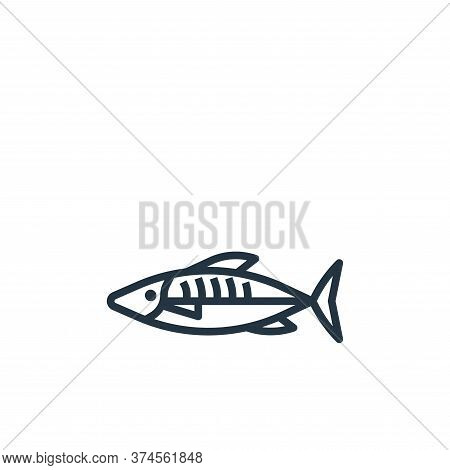 mackerel icon isolated on white background from seafood collection. mackerel icon trendy and modern