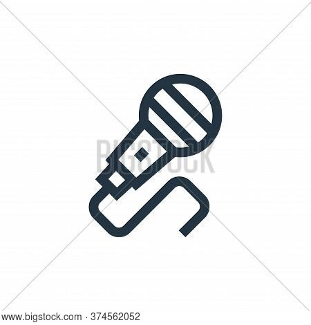 microphone icon isolated on white background from hippies collection. microphone icon trendy and mod