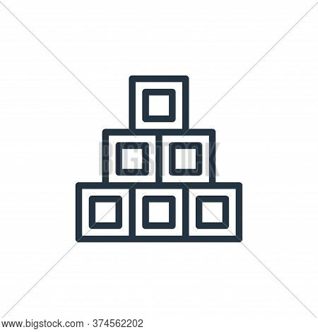 cube icon isolated on white background from school collection. cube icon trendy and modern cube symb