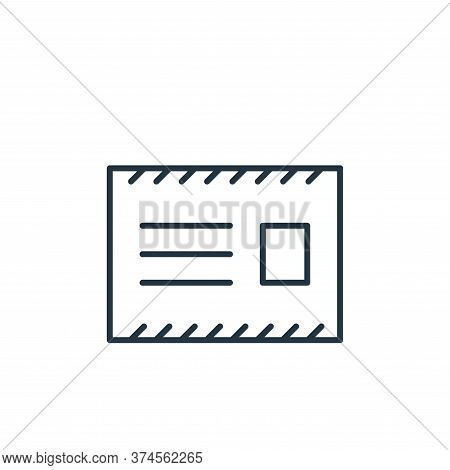 message icon isolated on white background from stationery collection. message icon trendy and modern
