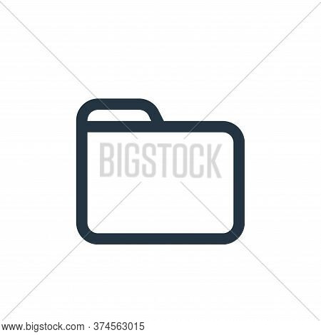 folder icon isolated on white background from interface collection. folder icon trendy and modern fo