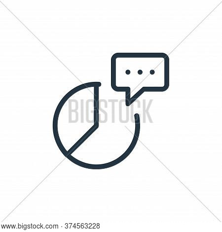 chat icon isolated on white background from work office and meeting collection. chat icon trendy and