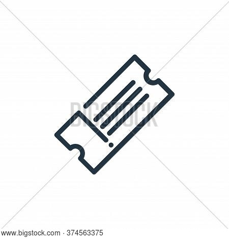 ticket icon isolated on white background from ricon collection. ticket icon trendy and modern ticket