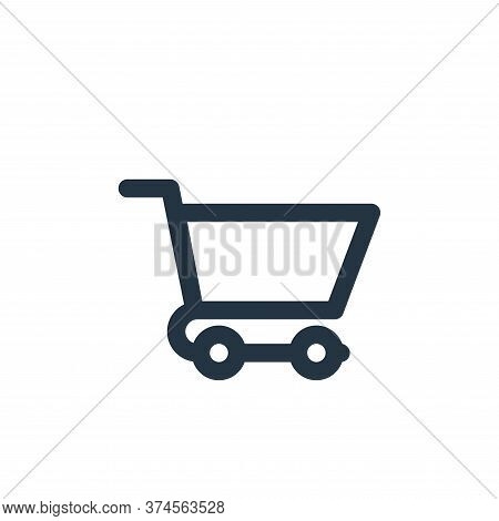 cart icon isolated on white background from marketing business collection. cart icon trendy and mode