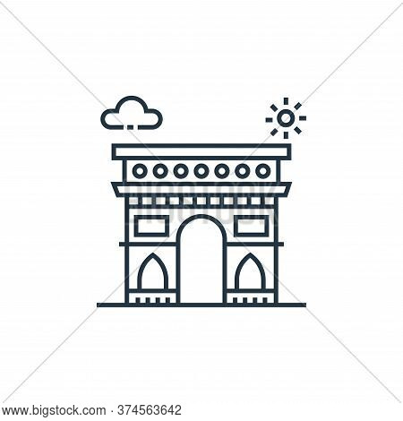 arc de triomphe icon isolated on white background from tourism collection. arc de triomphe icon tren