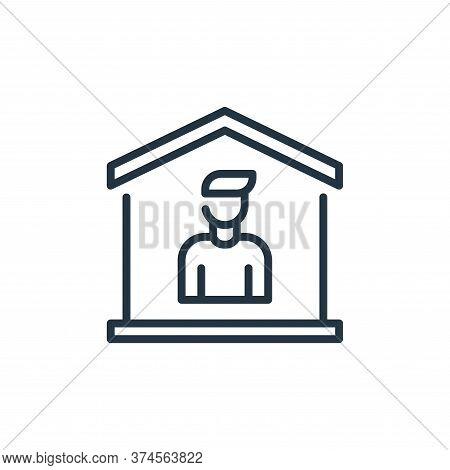 stay at home icon isolated on white background from coronavirus collection. stay at home icon trendy