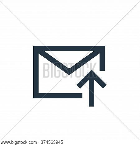 upload icon isolated on white background from email collection. upload icon trendy and modern upload